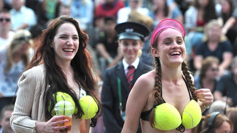 Tennis Ball Bra Girls