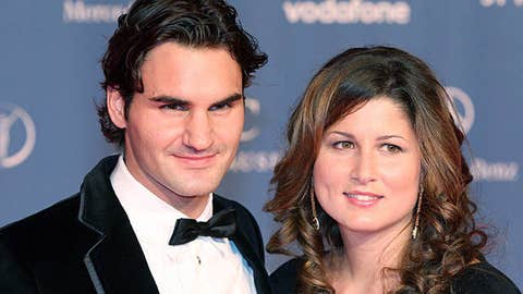 Roger Federer and Mirka Vavrinec