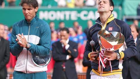 2013: Monte Carlo final (Djokovic wins 6-2, 7-6(1))