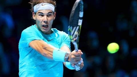 2013: ATP finals semifinal match (Nadal wins 7-5, 6-3)