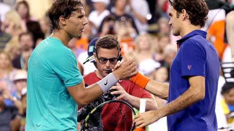 2013: Indian Wells quarterfinals (Nadal wins 6-4, 6-4)