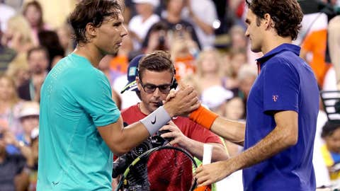 2013: Indian Wells quarterfinals (Nadal wins 6-4, 6-4)