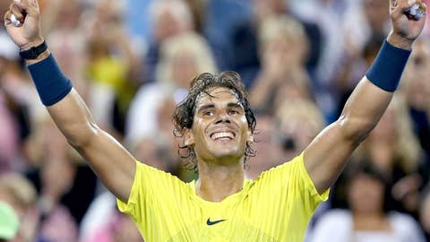 2013: Cincinnati quarterfinals (Nadal wins 5-7, 6-4, 6-3)