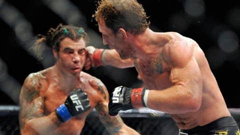 Clay Guida (left) fights Gray Maynard