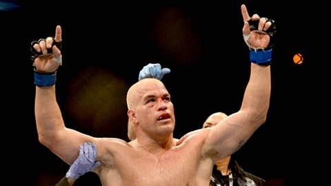 fighter Tito Ortiz celebrates