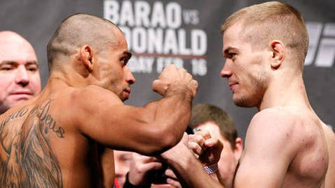 Barao and McDonald face off for the UFC Interim Bantamweight title.