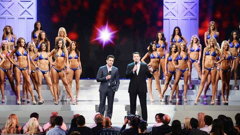 Hosts Kenny Florian and Chael Sonnen at the 17th annual Hooters International Swimsuit Pageant