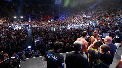 A packed house at the Mandalay Bay events center for Silva vs Weidman's weigh-in