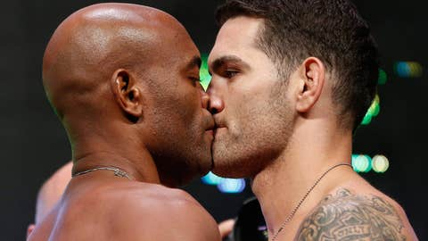 Extreme close-up: Anderson Silva and Chris Weidman face-off