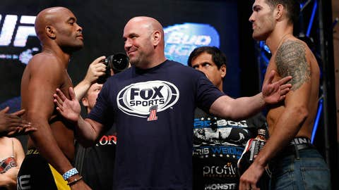 Dana White separates Anderson Silva and Chris Weidman