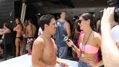 Work, play, whatever: Lovebirds Joseph Benavidez and FoxSports.com host Megan Olivi