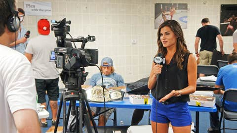 FoxSports.com reporter Megan Olivi at UFC Community Day