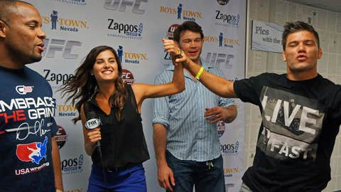 Wildin' out: Daniel Cormier, Megan Olivi, Forrest Griffin and Josh Thompson