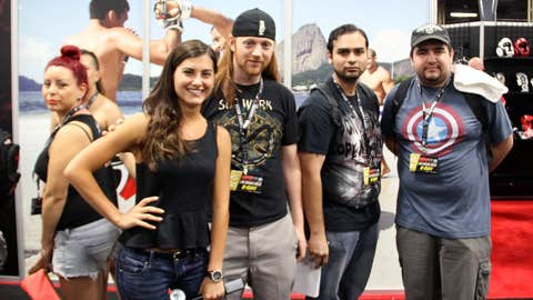 Superfans with Megan Olivi at the UFC Fan Expo