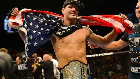 Captain America and new UFC middleweight champ, Chris Weidman