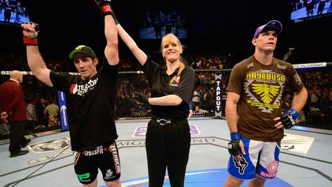 A victorious Tim Kennedy at UFC 162