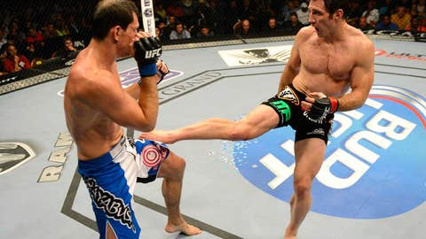 Tim Kennedy leg kicks Roger Gracie at UFC 162