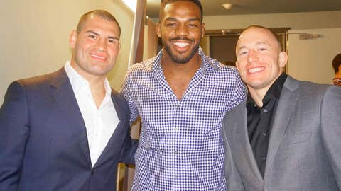 Three Amigos: Cain Velasquez, Jon Jones, and GSP
