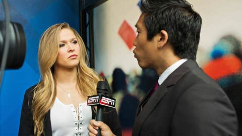 Ronda Rousey with ESPN's Cary Chow
