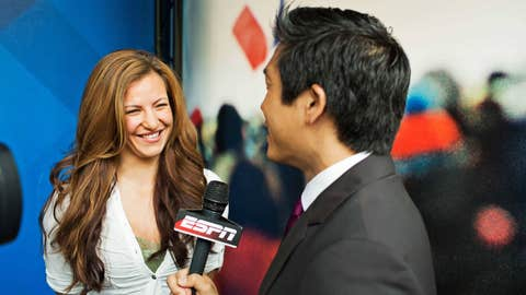 Miesha Tate with Cary Chow