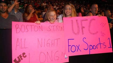 UFC fans at TD Garden