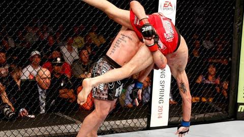 Manny Gamburyan takes down Cole Miller