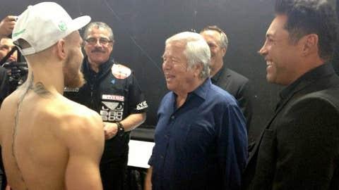 Conor McGregor, Robert Kraft, and Oscar de la Hoya