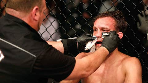 Brad Pickett with a post-fight no swell