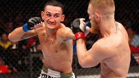 Max Holloway jabs Conor McGregor