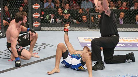 The former TUF champ was jubilant