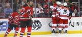 Rask nets 1st multigoal game, Hurricanes beat Devils 3-2