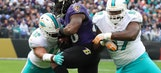 Dolphins walloped by Ravens, win streak comes to screeching halt