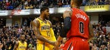George erupts for 37 points as Pacers defeat Blazers 118-111