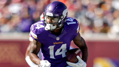Stefon Diggs, WR, Vikings (hip): Active