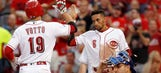 Joey Votto homers twice in 11-8 loss to Cubs