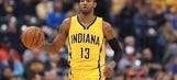 George scores 31 points, Pacers beat LeBron-less Cavs 103-93