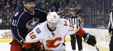 Johnson gets another shutout, Flames beat Jackets 2-0