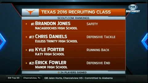 The Longhorns cleaned up on Signing Day