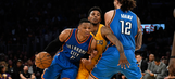 Westbrook's late surge falls short in OKC loss to Lakers