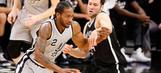 Leonard scores 30 points, Spurs rebound to beat Nets