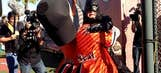 Batkid's incredible, heart-warming day ends by saving SF Giants mascot