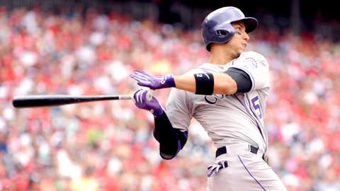 Center field: Carlos Gonzalez, Rockies