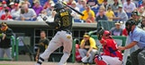 Several batters hit as Pirates-Phillies exhibition game gets feisty