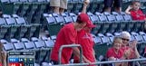 Watch: Young Angels fan makes barehanded snag over railing