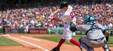 Red Sox win 7th straight, Holt ties record with 4 doubles