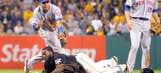 Pirates' Harrison pulls off great escape in rundown vs. Mets