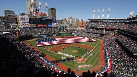 Tribe players on Opening Day