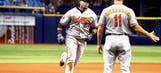Cruz's 2 HRs, 7 RBI help Orioles avoid weekend sweep to Rays