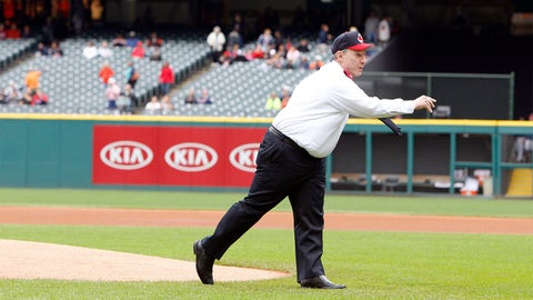 Honorary first pitch