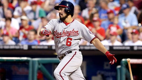 Third base: Anthony Rendon, Nationals; David Wright, Mets